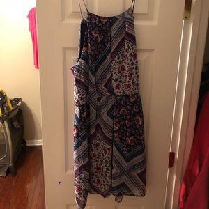 Midi skinny strap dress